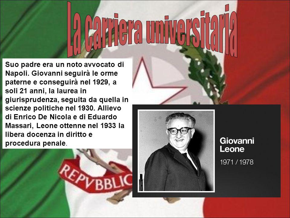 Suo padre era un noto avvocato di Napoli. Giovanni seguirà le orme paterne e conseguirà nel 1929, a soli 21 anni, la laurea in giurisprudenza, seguita