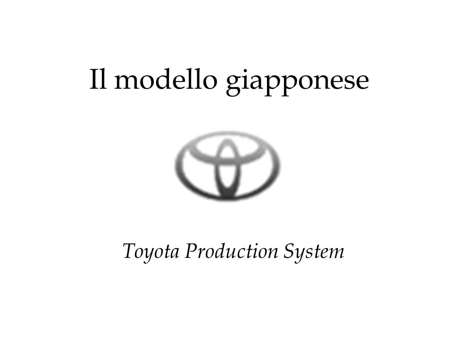 Il modello giapponese Toyota Production System