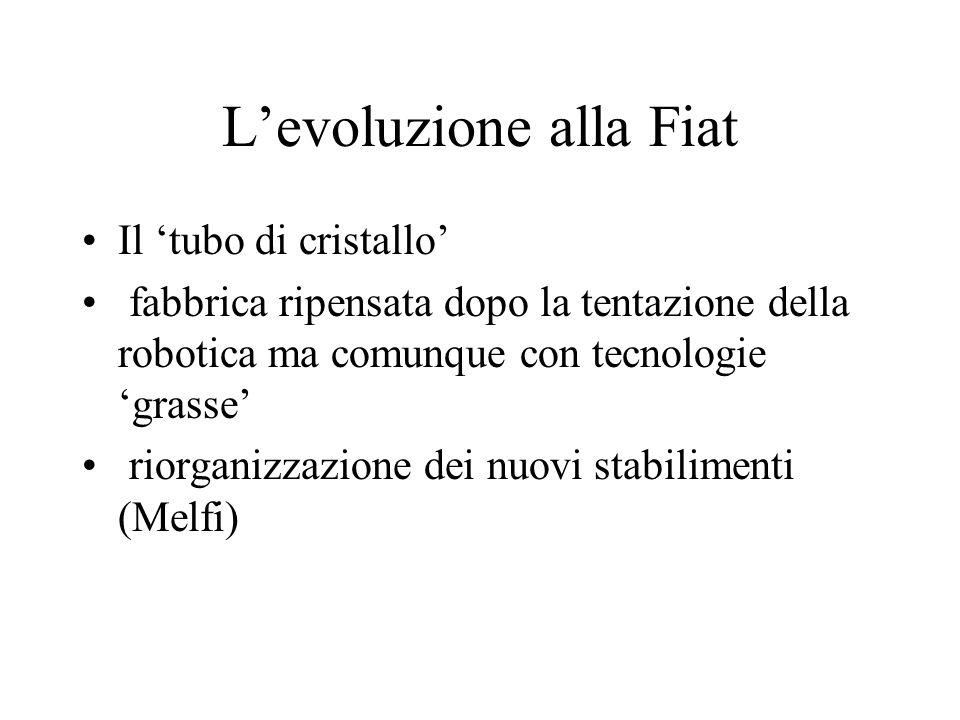 L'evoluzione alla Fiat Il 'tubo di cristallo' fabbrica ripensata dopo la tentazione della robotica ma comunque con tecnologie 'grasse' riorganizzazion
