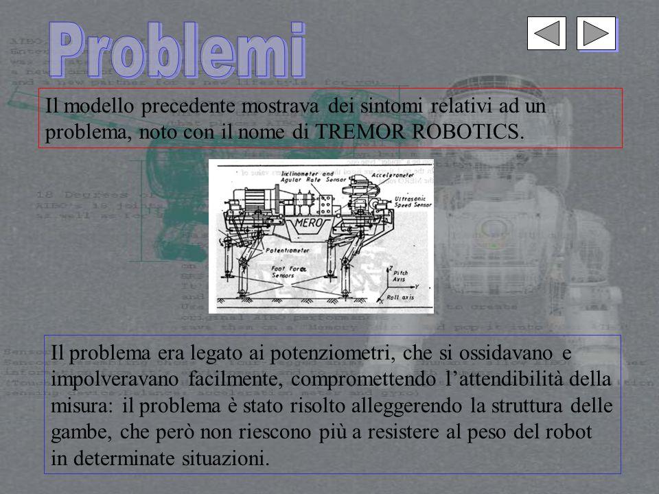 Il modello precedente mostrava dei sintomi relativi ad un problema, noto con il nome di TREMOR ROBOTICS.