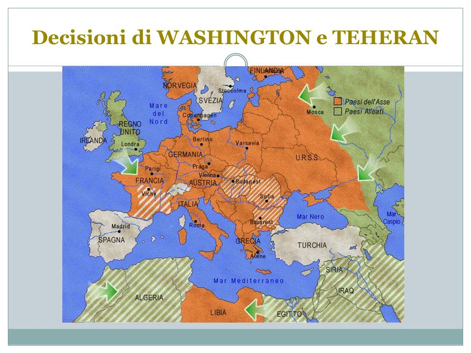 Decisioni di WASHINGTON e TEHERAN