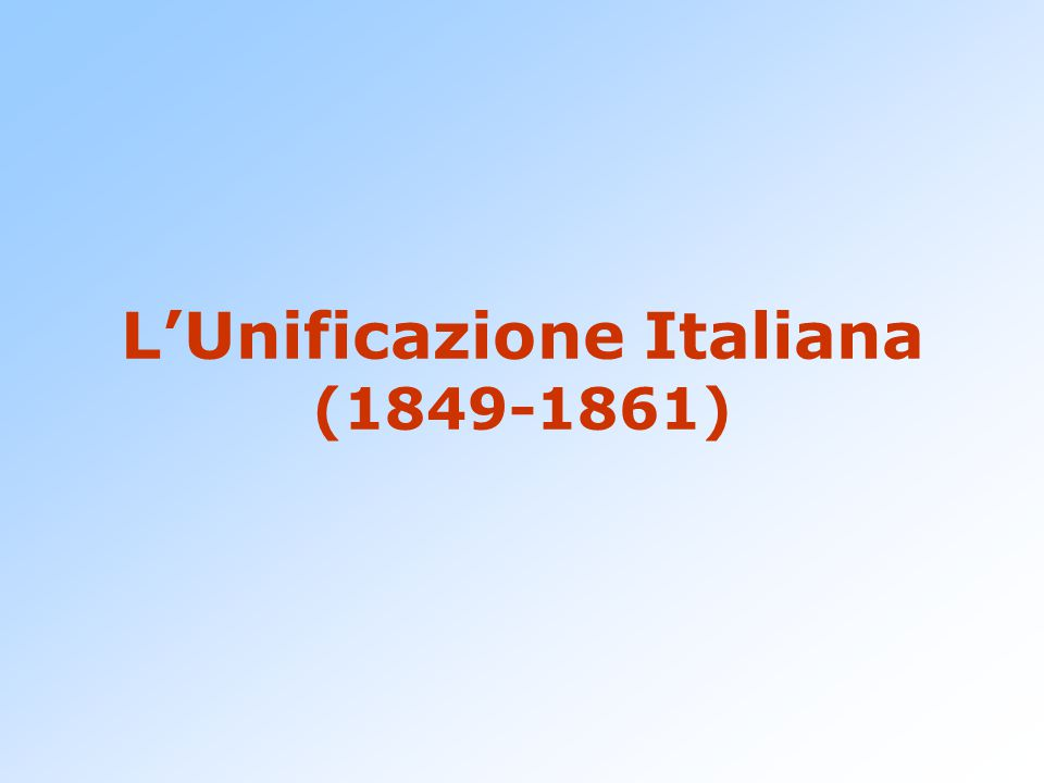 Piemontesizzazione La nascita del nuovo stato viene ridotta ad un allargamento del Piemonte:  Lo Statuto e le leggi del Regno di Sardegna vengono estese a tutto il territorio nazionale.