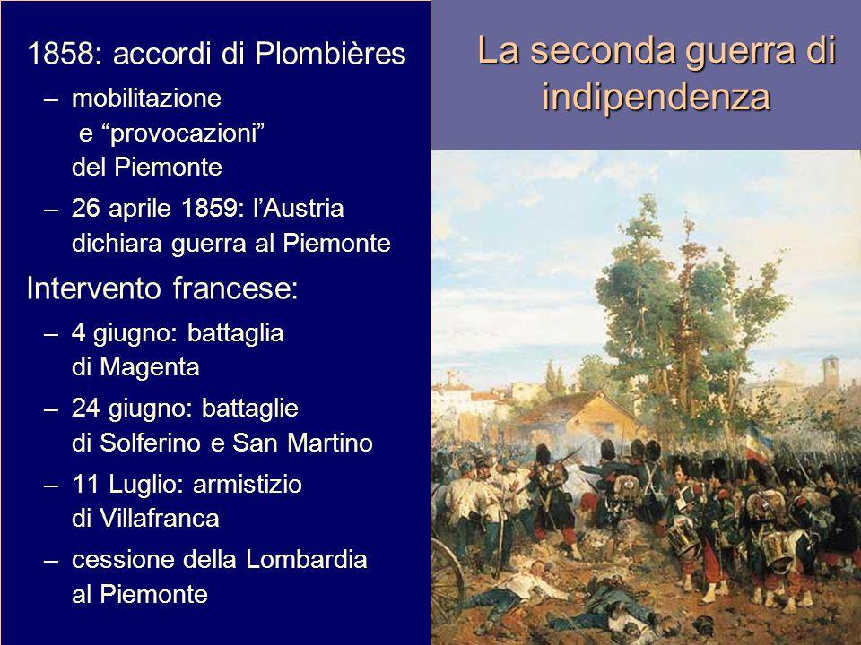 """La battaglia di Magenta La seconda guerra di indipendenza 1858: accordi di Plombières –mobilitazione e """"provocazioni"""" del Piemonte –26 aprile 1859: l'"""