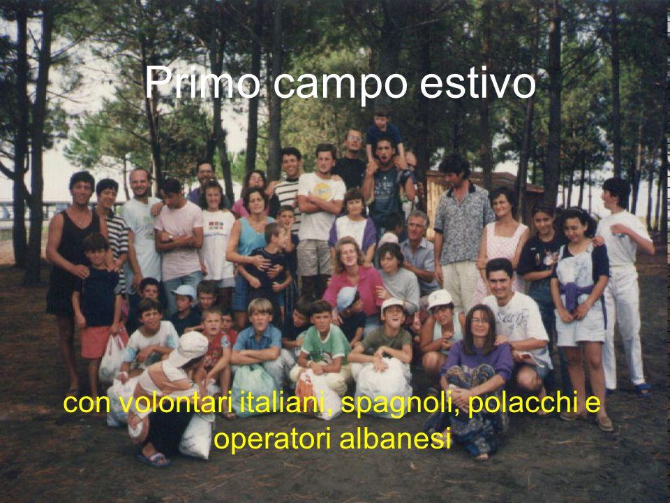 Primo campo estivo con volontari italiani, spagnoli, polacchi e operatori albanesi