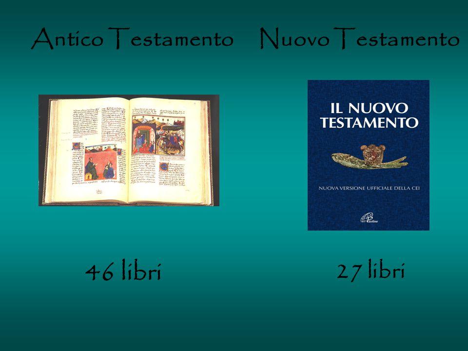 Antico Testamento 46 libri Nuovo Testamento 27 libri