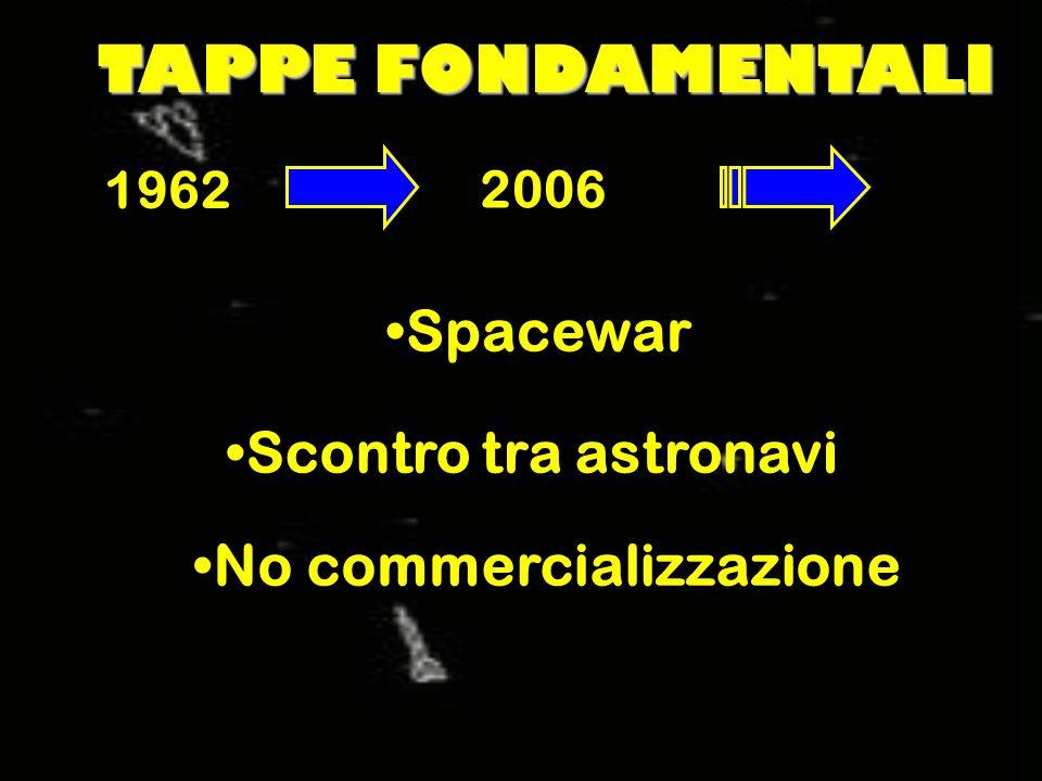 TAPPE FONDAMENTALI 1962 2006 Spacewar Scontro tra astronavi No commercializzazione