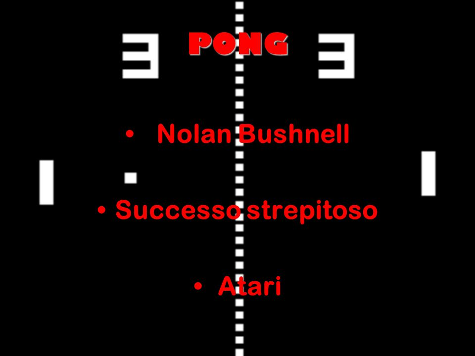 PONG Nolan Bushnell Successo strepitoso Atari