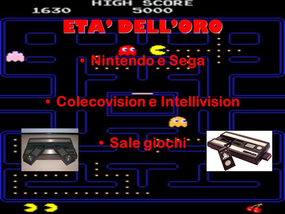 ETA' DELL'ORO Nintendo e Sega Colecovision e Intellivision Sale giochi