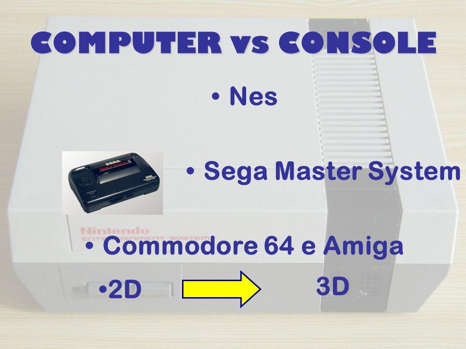 COMPUTER vs CONSOLE Nes Sega Master System Commodore 64 e Amiga 2D 3D