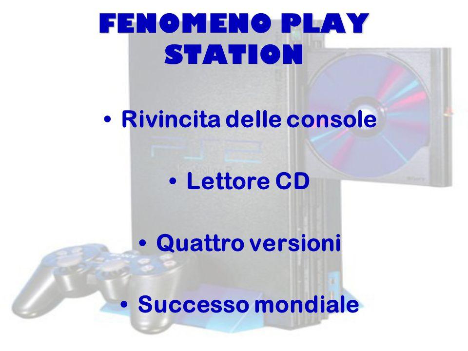 FENOMENO PLAY STATION Rivincita delle console Lettore CD Quattro versioni Successo mondiale