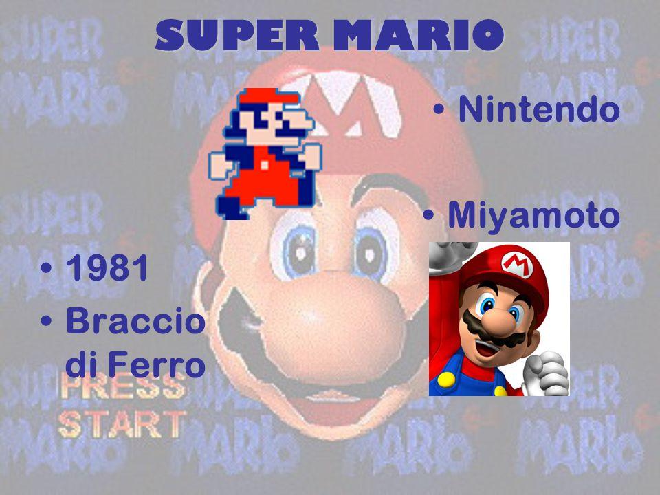 SUPER MARIO Nintendo Miyamoto 1981 Braccio di Ferro