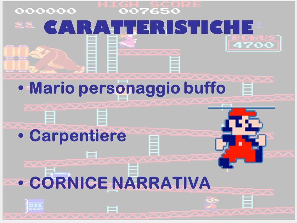 CARATTERISTICHE Mario personaggio buffo Carpentiere CORNICE NARRATIVA