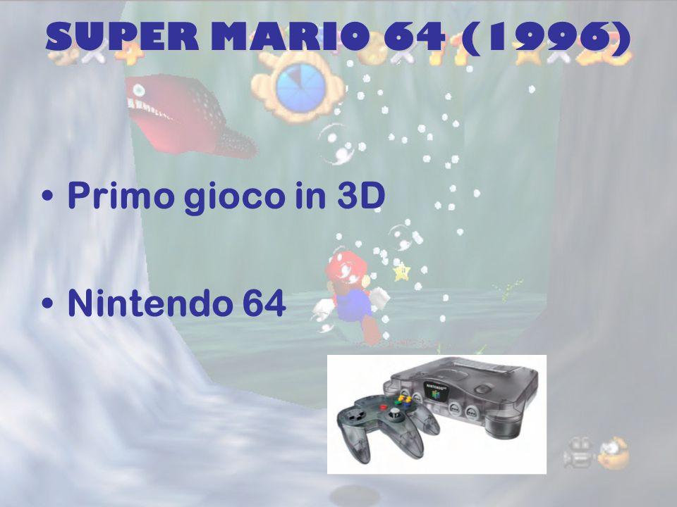 SUPER MARIO 64 (1996) Primo gioco in 3D Nintendo 64