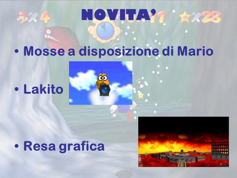 NOVITA' Mosse a disposizione di Mario Lakito Resa grafica