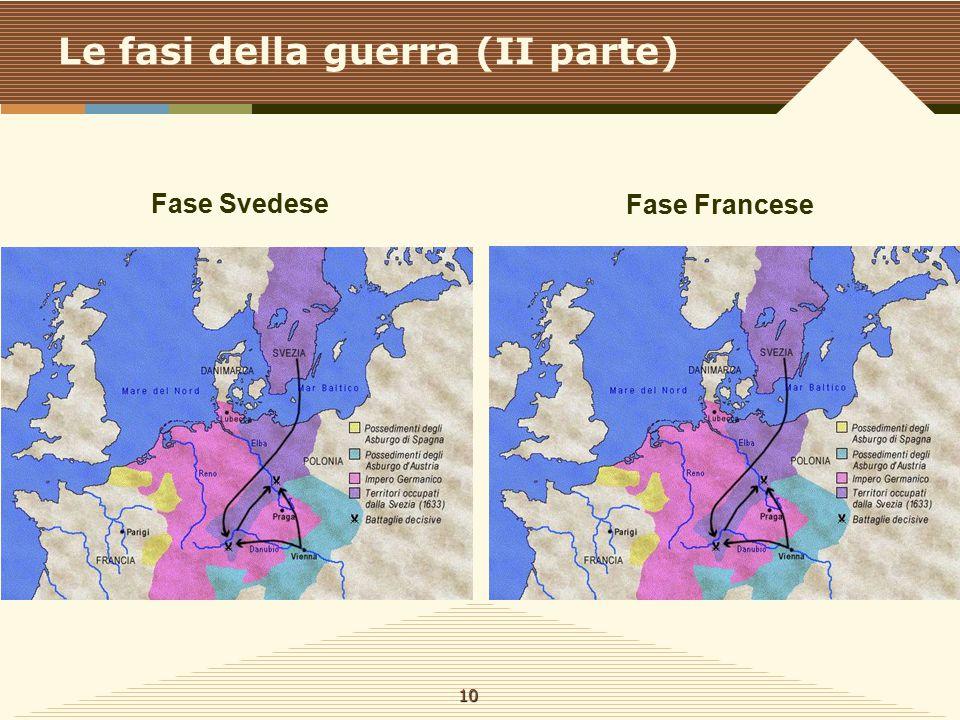 Le fasi della guerra (II parte) Fase Svedese Fase Francese 10