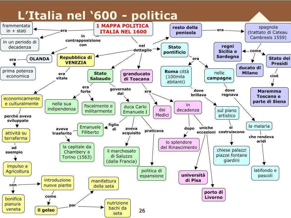 L'Italia nel '600 - politica 26