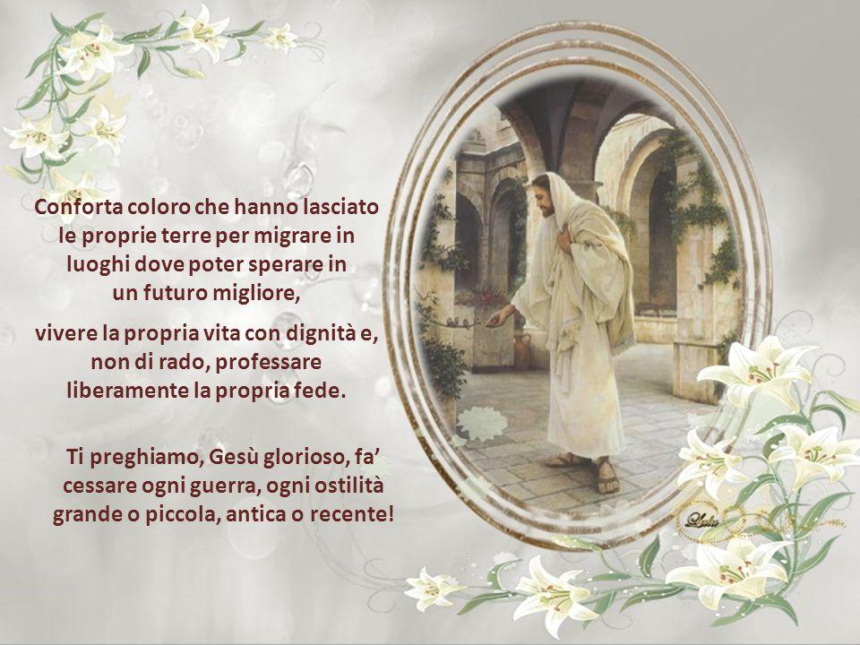 Consola quanti oggi non possono celebrare la Pasqua con i propri cari perché strappati ingiustamente ai loro affetti, come le numerose persone, sacerd