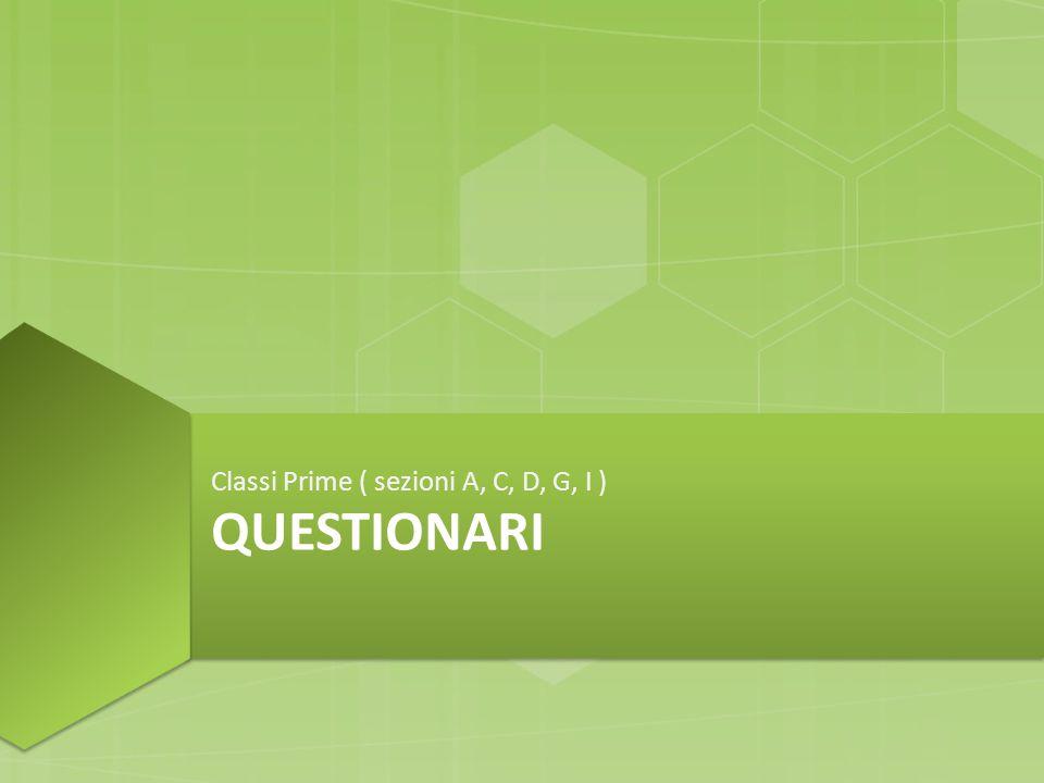 QUESTIONARI Classi Prime ( sezioni A, C, D, G, I )