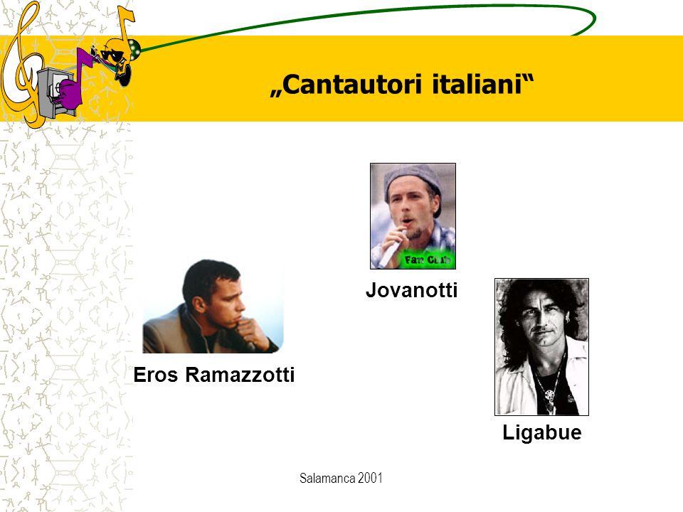"""Salamanca 2001 Eros Ramazzotti Jovanotti Ligabue """"Cantautori italiani"""""""