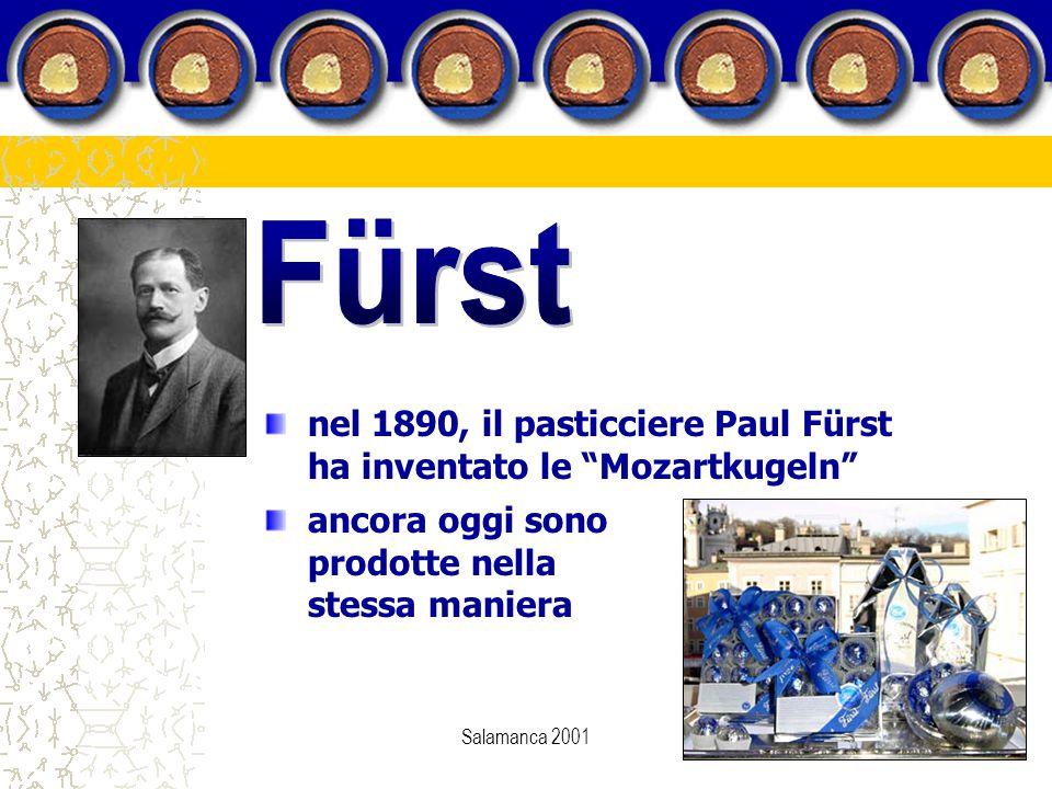 """Salamanca 2001 nel 1890, il pasticciere Paul Fürst ha inventato le """"Mozartkugeln"""" ancora oggi sono prodotte nella stessa maniera"""
