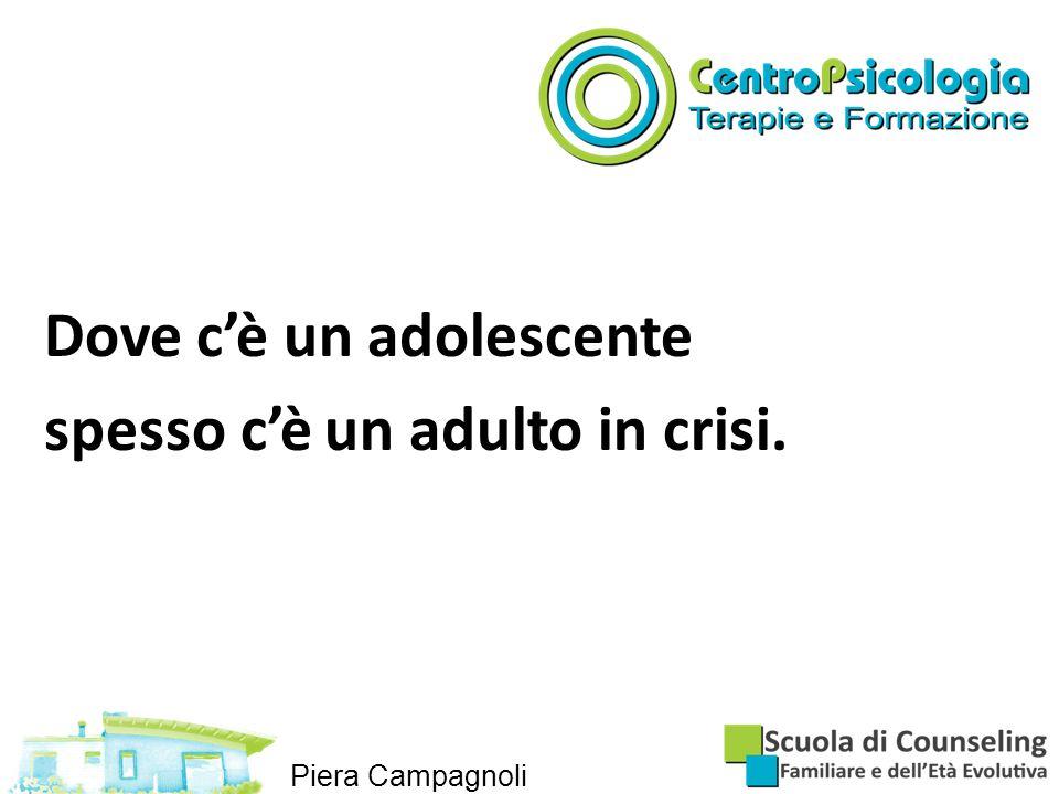 Dove c'è un adolescente spesso c'è un adulto in crisi. Piera Campagnoli