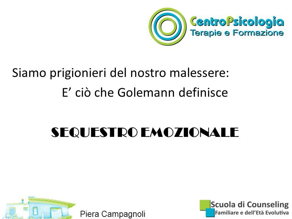 Siamo prigionieri del nostro malessere: E' ciò che Golemann definisce SEQUESTRO EMOZIONALE Piera Campagnoli