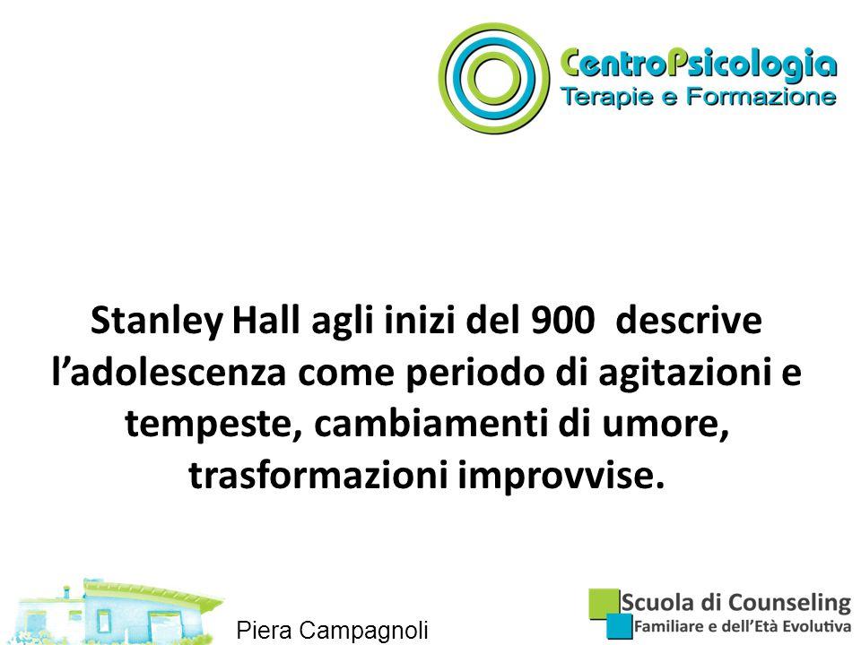 Stanley Hall agli inizi del 900 descrive l'adolescenza come periodo di agitazioni e tempeste, cambiamenti di umore, trasformazioni improvvise.