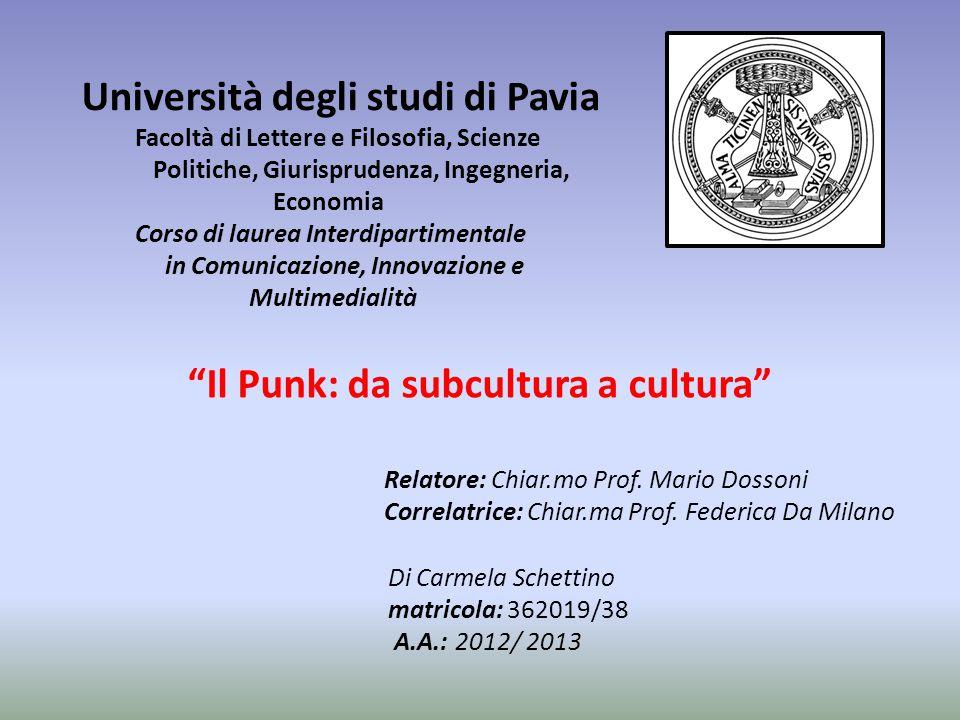 Università degli studi di Pavia Facoltà di Lettere e Filosofia, Scienze Politiche, Giurisprudenza, Ingegneria, Economia Corso di laurea Interdipartime