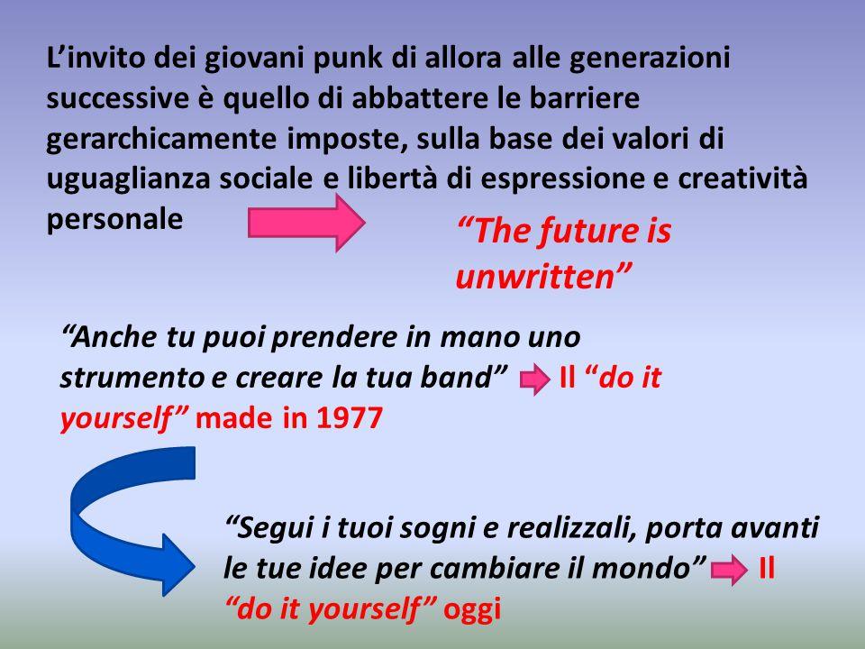 L'invito dei giovani punk di allora alle generazioni successive è quello di abbattere le barriere gerarchicamente imposte, sulla base dei valori di ug