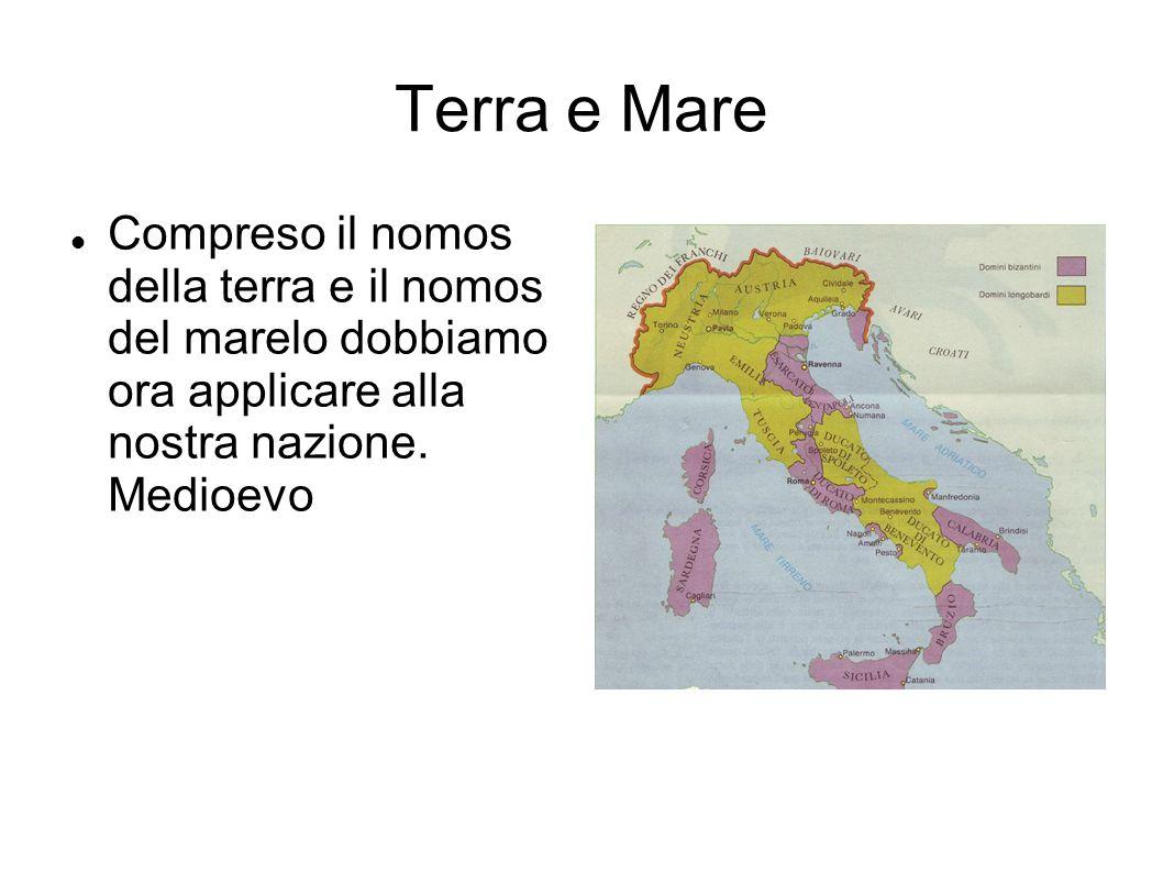 Bizantini e longobardi L Italia viene divisa in due già nel 700 d.c. Esarcato e Roma