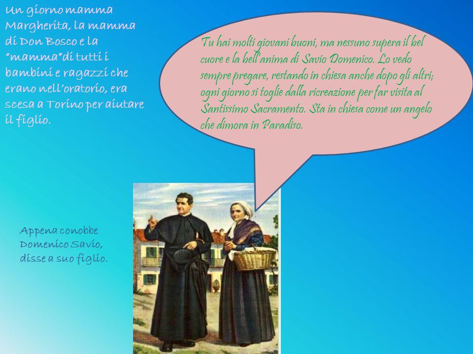 """Un giorno mamma Margherita, la mamma di Don Bosco e la """"mamma""""di tutti i bambini e ragazzi che erano nell'oratorio, era scesa a Torino per aiutare il"""