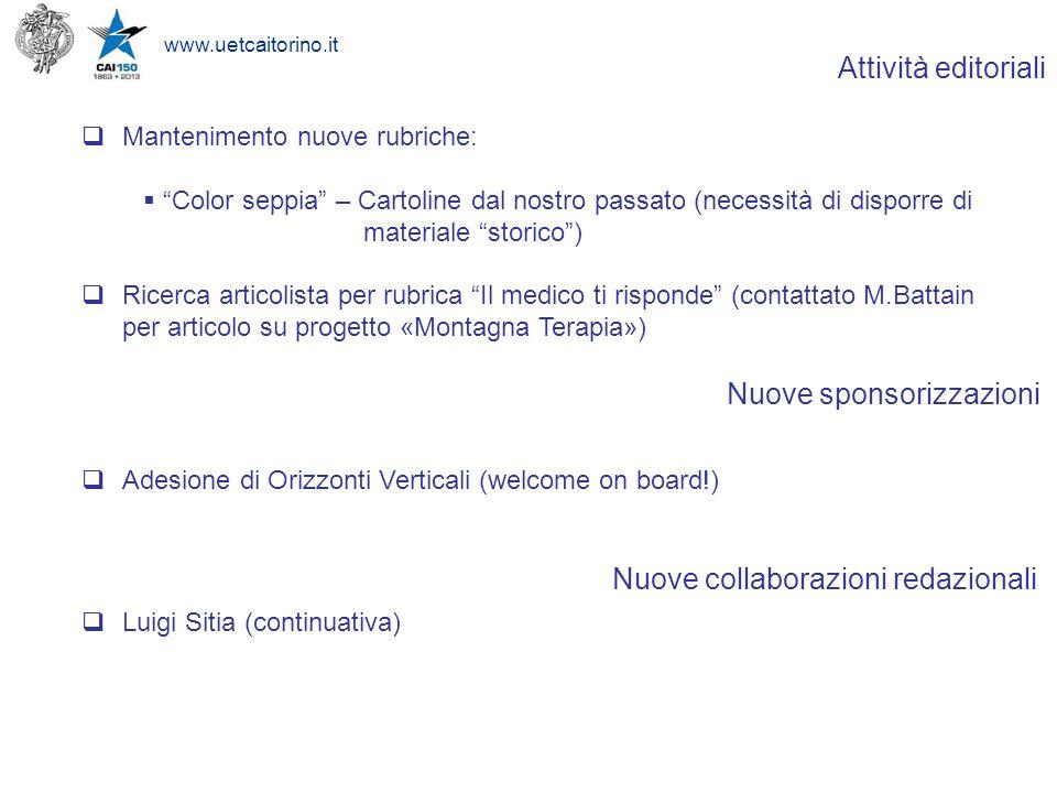 www.uetcaitorino.it Orizzonti Verticali : Welcome on board !