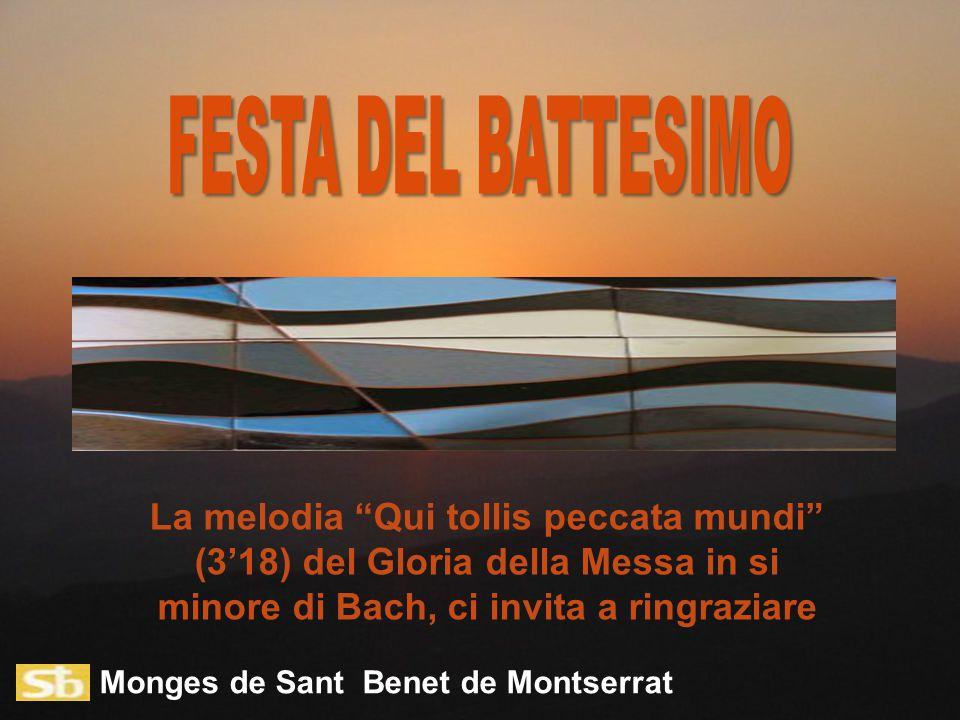 Monges de Sant Benet de Montserrat La melodia Qui tollis peccata mundi (3'18) del Gloria della Messa in si minore di Bach, ci invita a ringraziare