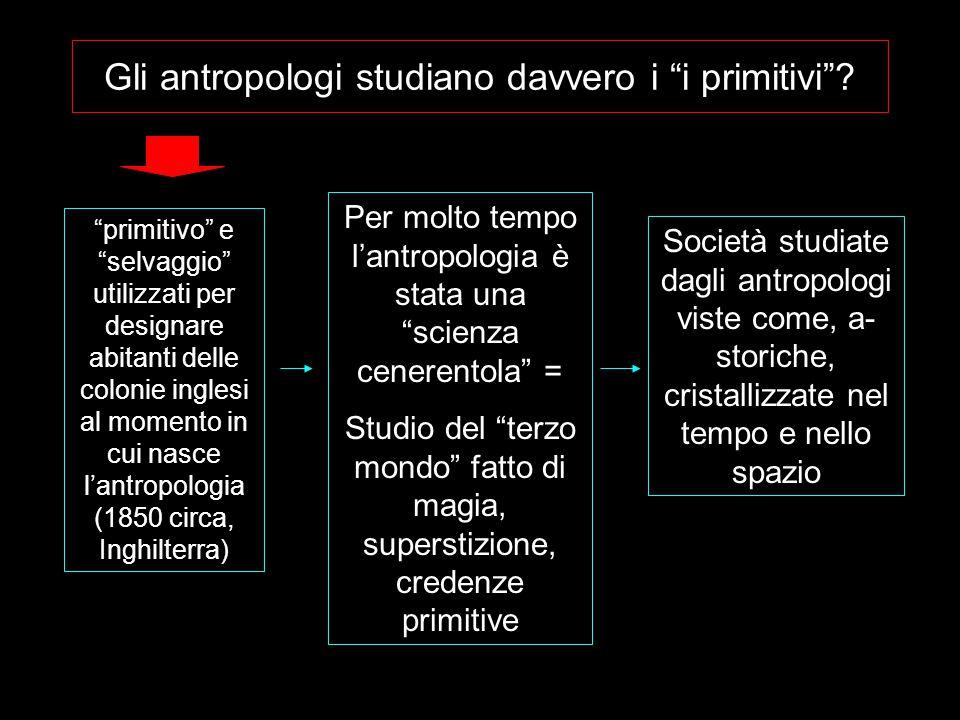 """Gli antropologi studiano davvero i """"i primitivi""""? """"primitivo"""" e """"selvaggio"""" utilizzati per designare abitanti delle colonie inglesi al momento in cui"""