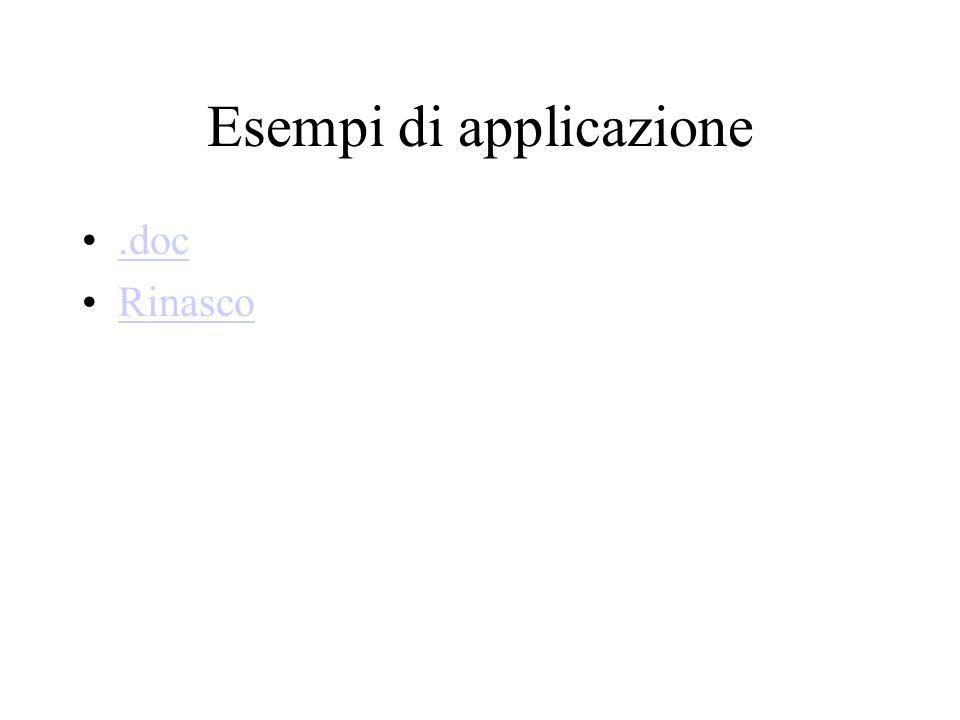 Esempi di applicazione.doc Rinasco