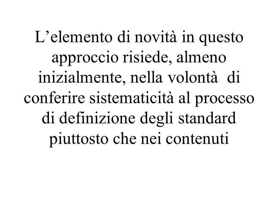 L'elemento di novità in questo approccio risiede, almeno inizialmente, nella volontà di conferire sistematicità al processo di definizione degli stand