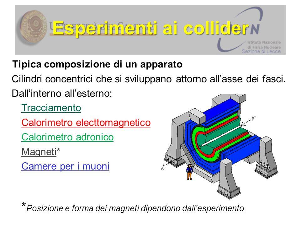 Tipica composizione di un apparato Cilindri concentrici che si sviluppano attorno all'asse dei fasci.