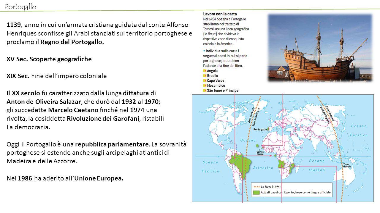 Portogallo 1139, anno in cui un'armata cristiana guidata dal conte Alfonso Henriques sconfisse gli Arabi stanziati sul territorio portoghese e proclam