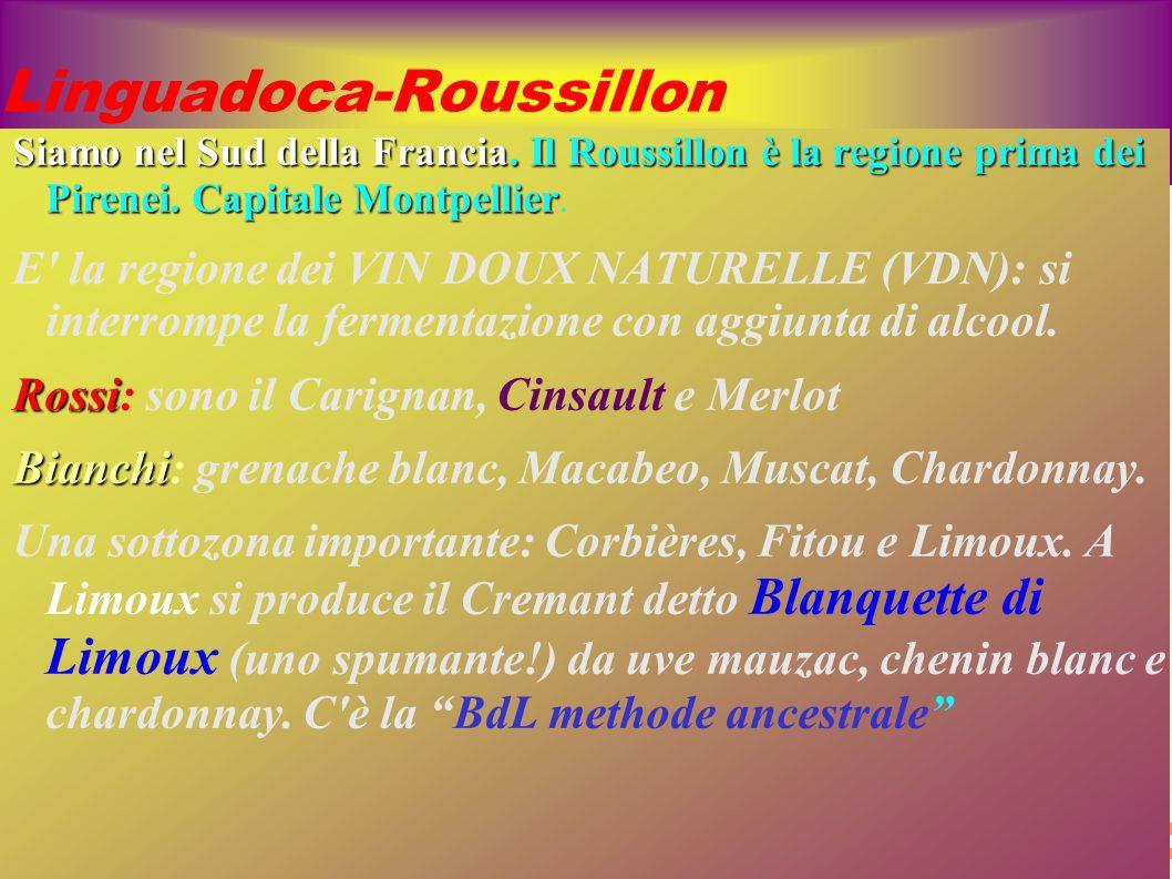 Linguadoca-Roussillon Siamo nel Sud della Francia. Il Roussillon è la regione prima dei Pirenei. Capitale Montpellier Siamo nel Sud della Francia. Il