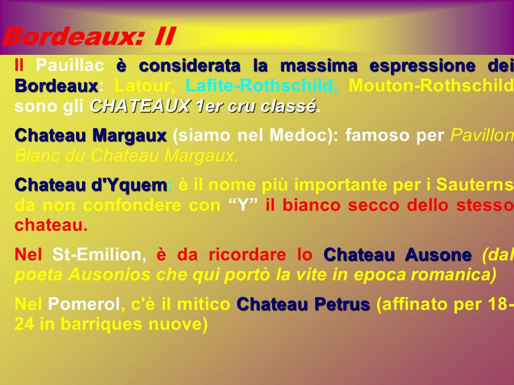 Bordeaux: II è considerata la massima espressione dei Bordeaux CHATEAUX 1er cru classé Il Pauillac è considerata la massima espressione dei Bordeaux: