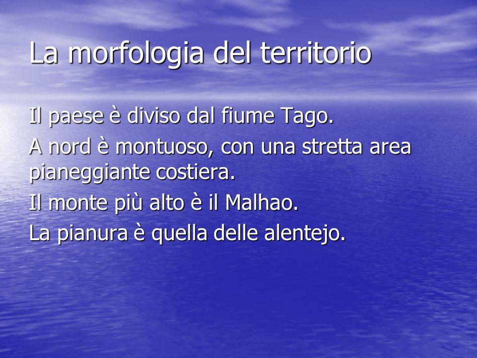 La morfologia del territorio Il paese è diviso dal fiume Tago.