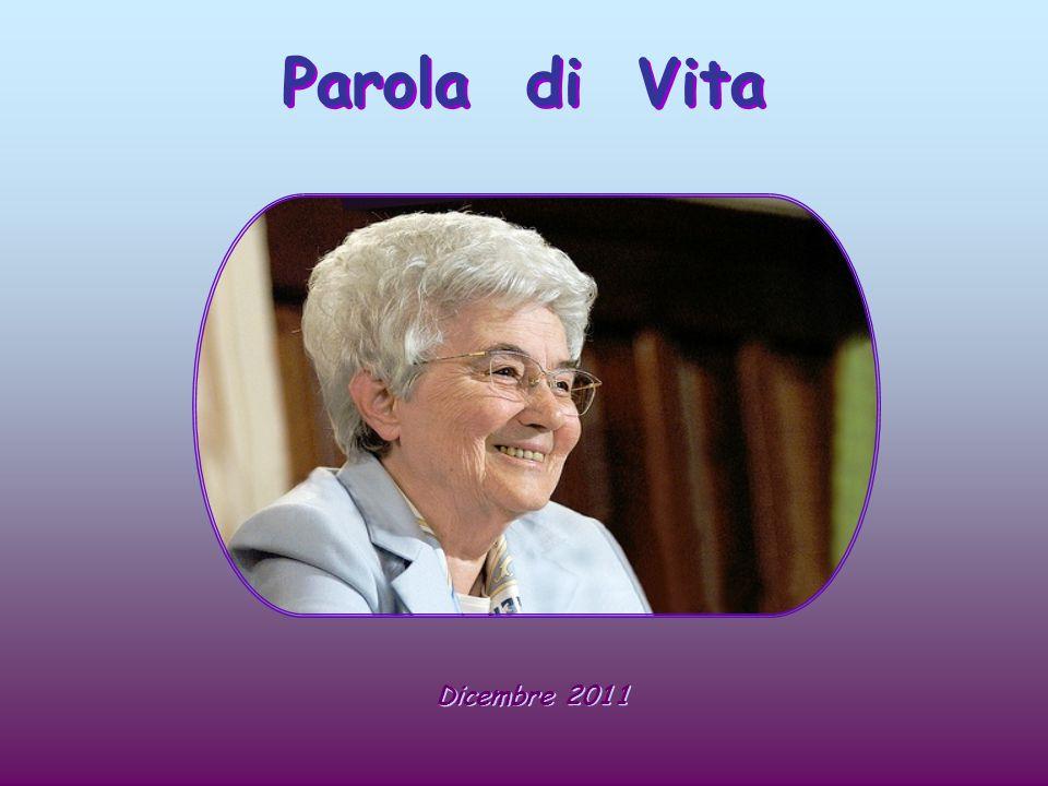Grafica Anna Lollo in Parola di Vita , Vita , pubblicazione mensile del Movimento dei Focolari.
