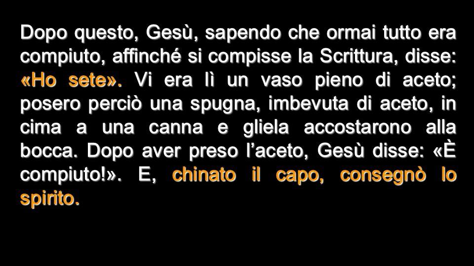 Tenebre e Luce nel S. Sepolcro MORTE DI GESÙ