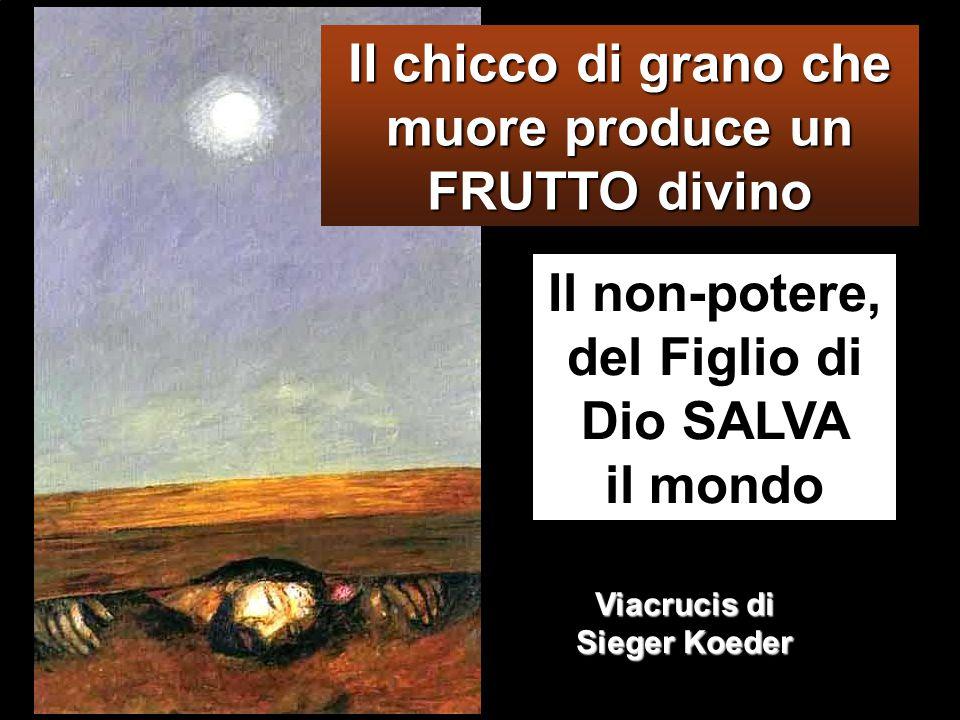 Il non-potere, del Figlio di Dio SALVA il mondo Il chicco di grano che muore produce un FRUTTO divino Viacrucis di Sieger Koeder