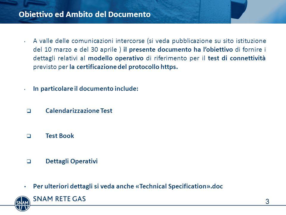 A valle delle comunicazioni intercorse (si veda pubblicazione su sito istituzione del 10 marzo e del 30 aprile ) il presente documento ha l'obiettivo di fornire i dettagli relativi al modello operativo di riferimento per il test di connettività previsto per la certificazione del protocollo https.