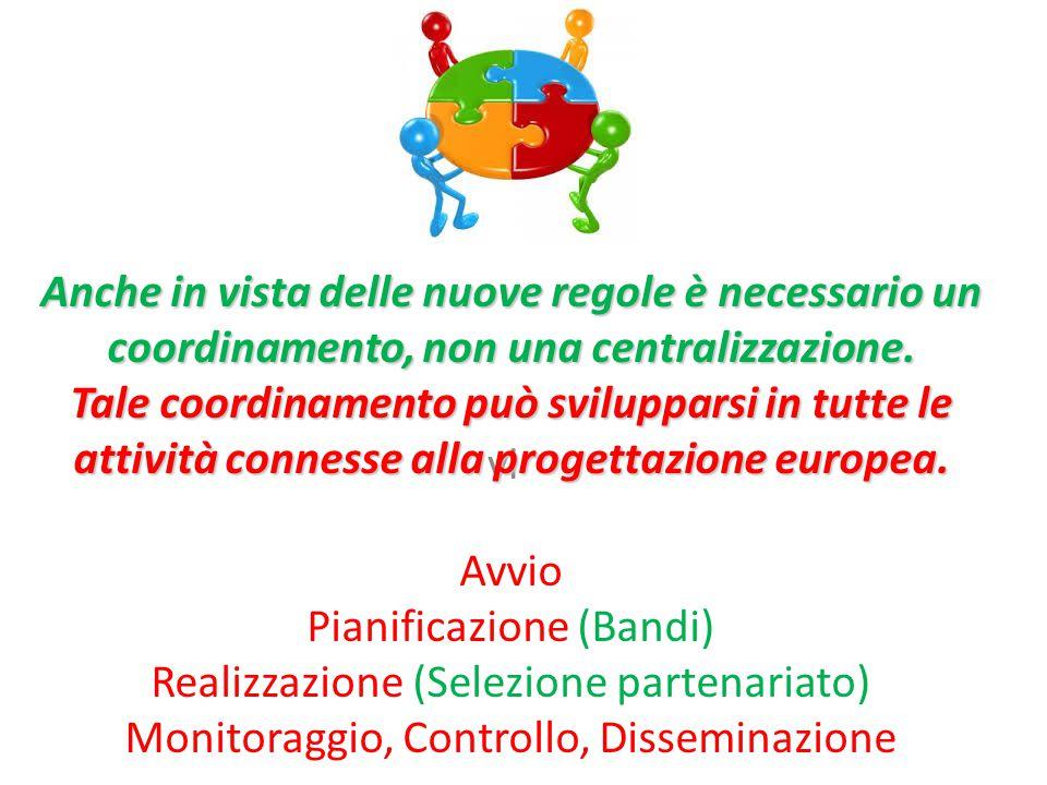 vi Anche in vista delle nuove regole è necessario un coordinamento, non una centralizzazione.