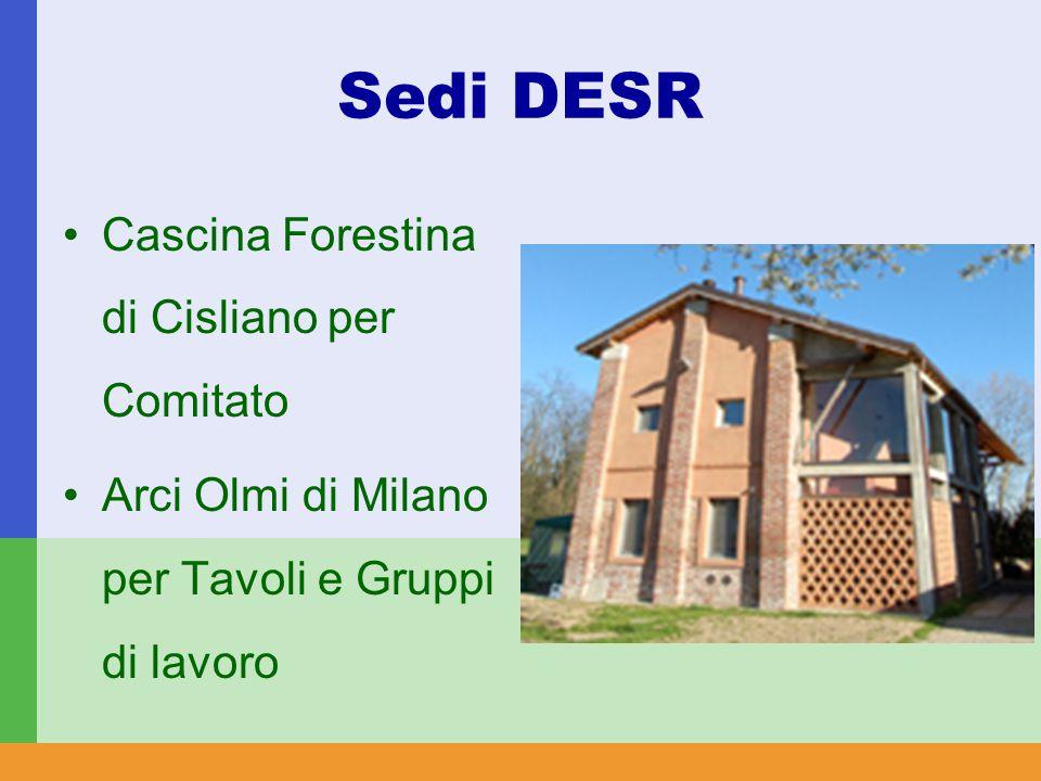 Sedi DESR Cascina Forestina di Cisliano per Comitato Arci Olmi di Milano per Tavoli e Gruppi di lavoro