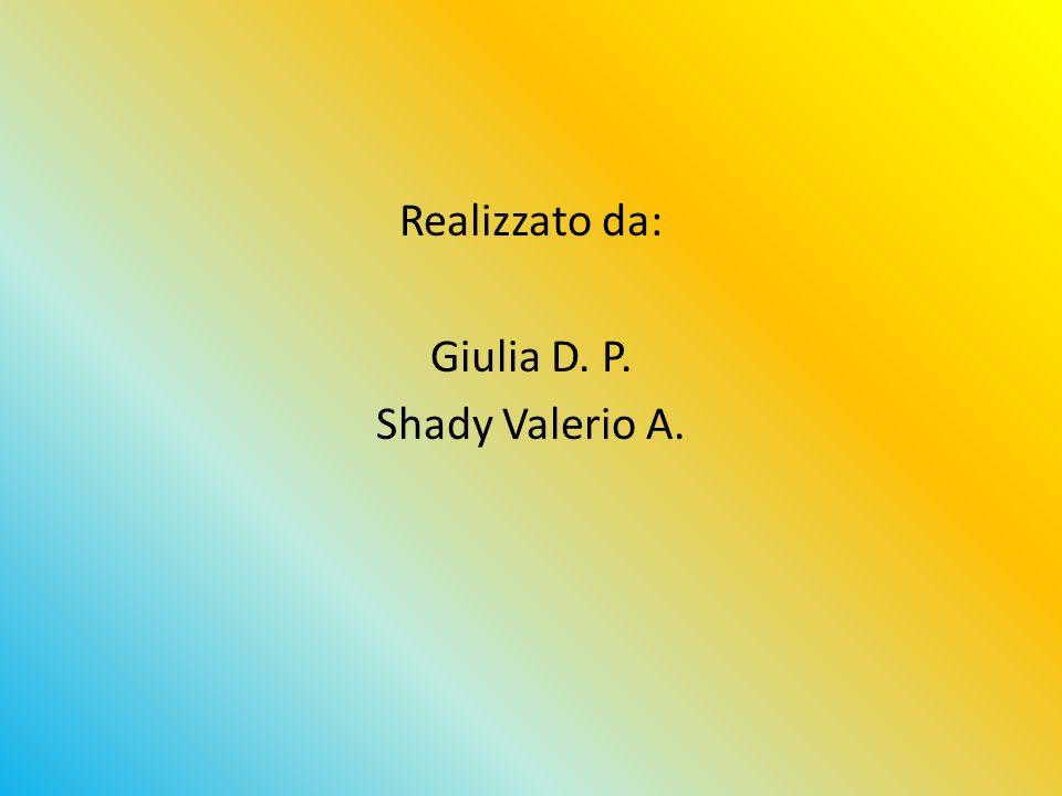 Realizzato da: Giulia D. P. Shady Valerio A.
