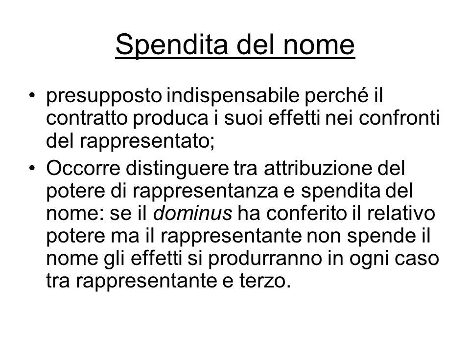 1389 comma 2 L'impedimento dovrebbe rilevare al momento della conclusione del contratto e non al momento del conferimento della procura.