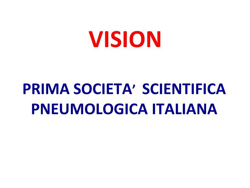 MISSION PROMOZIONE DELLA CULTURA PNEUMOLOGICA RICERCA EDUCAZIONE VISIBILITA' POLITICA